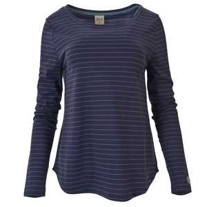 schickes Langarmshirt - blau gestreift - People Wear Organic
