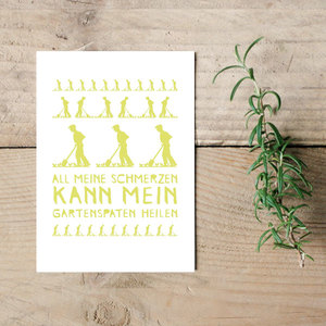 "Postkarte ""All meine Schmerzen""  - Parzelle43"