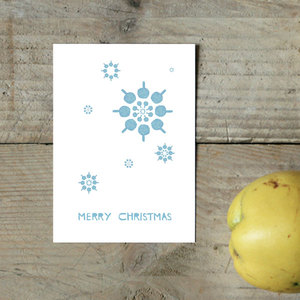 Postkarte Schneeflocke - Parzelle43