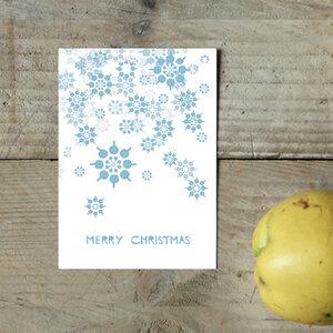 Postkarte Schneeflocken - Parzelle43