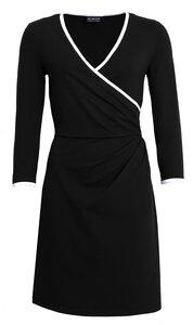 Bio Jersey-Kleid mit Wickeloptik und Ausschnittkante in beige - bill, bill & bill