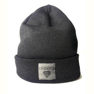 Beanie Mütze aus Merinowolle dunkelgrau - eisbörg