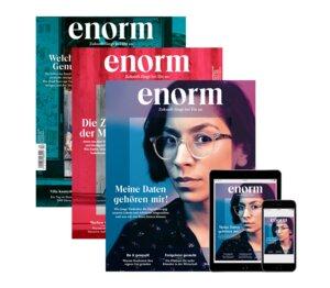 enorm Jahresabo print und digital - enorm Magazin – Zukunft fängt bei Dir an