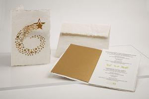 Briefkarte Sternschnuppe - Just Be