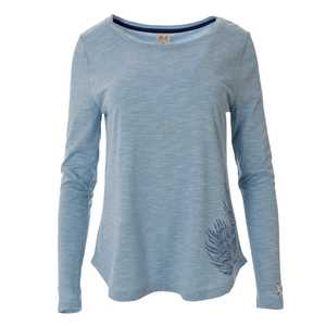 schickes Langarmshirt in jade-blau - People Wear Organic
