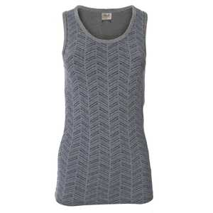 sportliches Tank Top in grau/melange GOTS - People Wear Organic