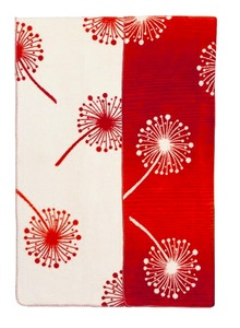 Wohn- und Kinder Decke Pusteblume rot Bio Baumwolle - Richter Textilien