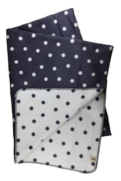 richter textilien wohn und kinder decke punkte grau bio baumwolle avocadostore. Black Bedroom Furniture Sets. Home Design Ideas