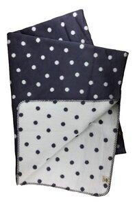 Wohn- und Kinder Decke Punkte grau Bio Baumwolle - Richter Textilien