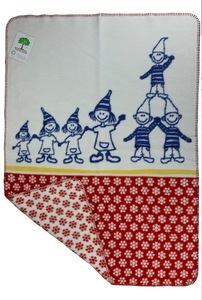 Baby und Kinder Decke Zwergenbande rot Bio Baumwolle - Richter Textilien