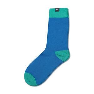 Bunte color block Socken aus Bio-Baumwolle für Männer und Frauen - Blau / Grün - MINGA BERLIN