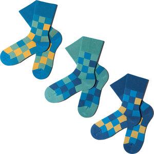3 Paar Socken - Blue Pixelate Geschenkbox - MINGA BERLIN