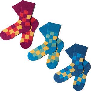 3 Paar Socken - Yellow Pixelate Geschenkbox - MINGA BERLIN