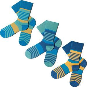 3 Paar Socken - Blue Layercake Geschenkbox - MINGA BERLIN