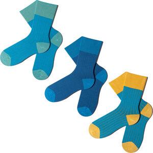 3 Paar Socken - Blue Sliced Geschenkbox  - MINGA BERLIN