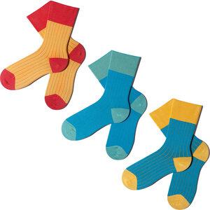 3 Paar Socken - Yellow Sliced Geschenkbox - MINGA BERLIN