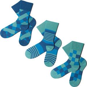 3 Paar Socken - Breezy Blues Geschenkbox  - MINGA BERLIN