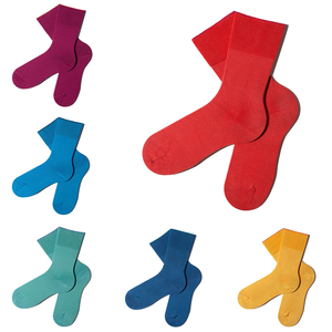 6 Paar einfarbige bunte Socken inkl. Geschenkbox - MINGA BERLIN