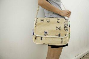Papier Schultertasche aus wasserfesten Recycling Papier. Handgemacht, Messenger bag. Perfekt fürs MacBook 13 - 14 Zoll. - BY COPALA