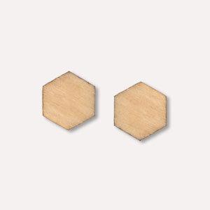 Holz-Ohrstecker in verschiedenen Farben - Gary Mash
