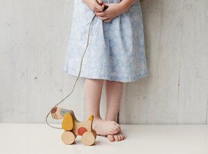 Nachziehspielzeug aus Holz, Hund - vennligetreleker.no