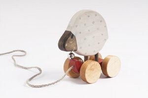 Nachziehspielzeug aus Holz, Schäfchen - vennligetreleker.no