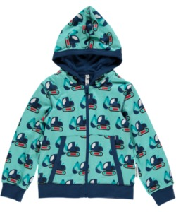 Kinder Cardigan-Hoodie 'Bagger' für Jungen - maxomorra