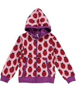 Kinder Cardigan-Hoodie 'Ladybug' für Mädchen - maxomorra
