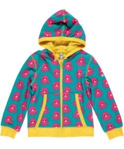 Kinder Cardigan-Hoodie 'Octopus' für Mädchen - maxomorra