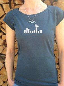 T-Shirt + Kette 'Möwe' - Zucker