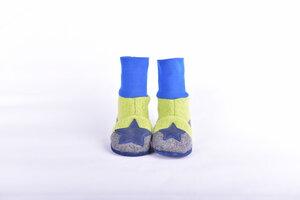 Gr.20/21 Wollwalkschuhe /Trageschuhe hohes Bündchen,Babyschuhe  - Süßstoff