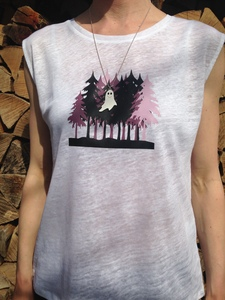 Sleeveless Shirt + Kette 'Gespenst' - Zucker