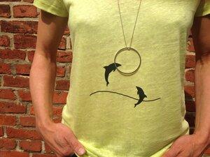 T-Shirt + Kette 'Delphine' - Zucker