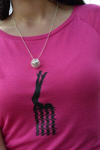 T-Shirt + Kette 'Disco' - Zucker