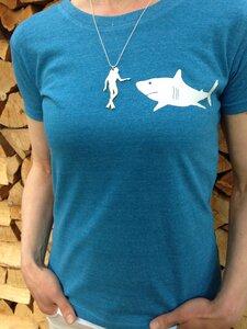 T-Shirt + Kette 'Taucher' - Zucker