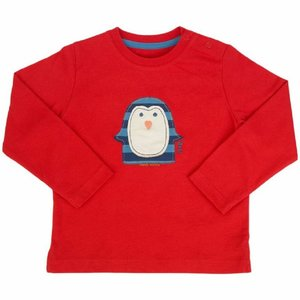 Langarmshirt Pinguin rot - Kite Kids