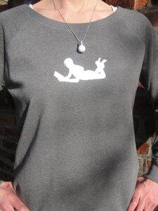 Sweatshirt + Kette 'Glühbirne' - Zucker