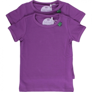 Kurzarmshirt Alfa Purple - Green Cotton