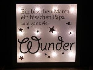 ♥ Beleuchteter Bilderrahmen ♥ Nachtlicht ♥ Wunder - Sternchenwolke
