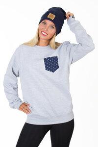 Anchor P Unisex Sweater mit Tasche - BLACK MOUNTAIN HERITAGE