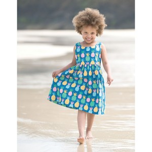 Porthcumo Party Dress Jazzy Pineapple - Frugi