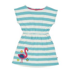 Boat Neck Dress Flamingo - Frugi