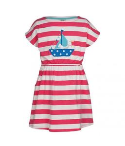 Boat Neck Dress Seagull - Frugi