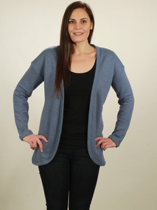 Jersey Cardigan Damen - smoke blue - NATIVE SOULS