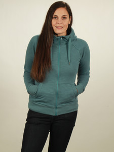 Zip-Hoodie Damen - light turquoise - NATIVE SOULS