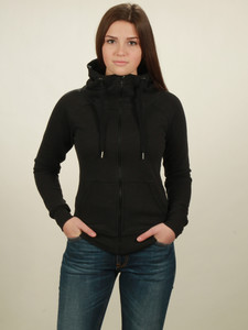 Zip-Hoodie Damen - black - NATIVE SOULS
