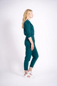 Jumpsuit Twist Longarm (Smaragd-green) - SIS forlife