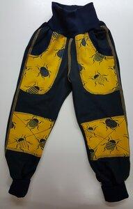 Jeansjersey-Hose Käfer mit Taschen und Knieflicken - Omilich