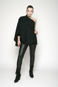 Play Cape - aus eins mach viel - pure black - WearPositive