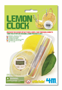 4M Lemon Clock - Zitronen-Uhr-Experiment - Green Science